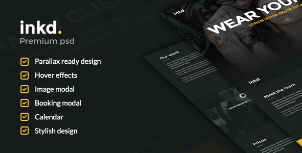 ThemeForest Inkd Tattoo studio 7126898