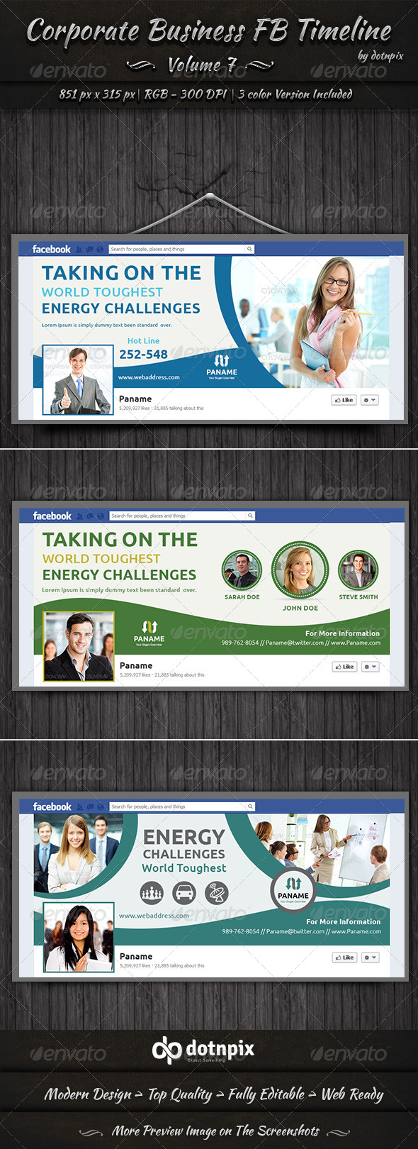 GraphicRiver Corporate Business FB Timeline Cover Volume 7 7126914