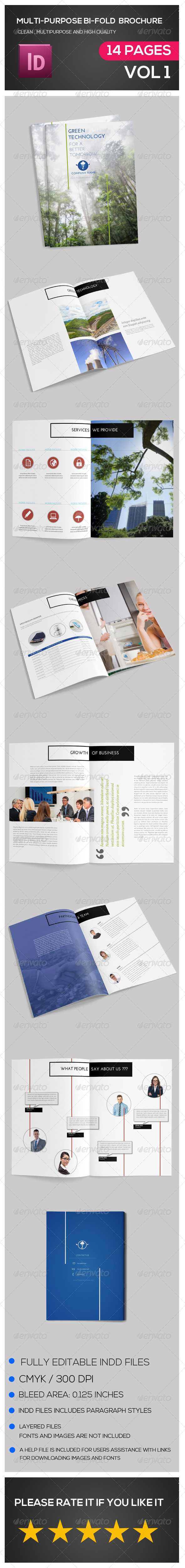 GraphicRiver Multipurpose Bi-Fold Brochure 7111173