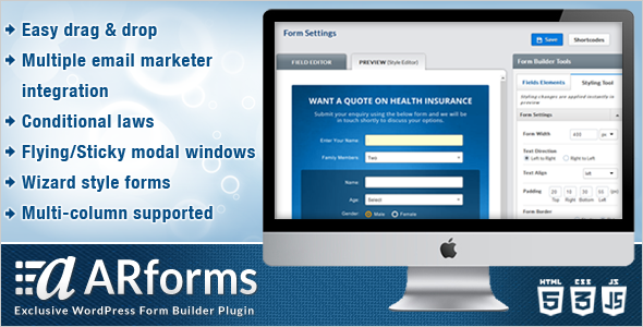 ARForms - Exclusive WordPress Form Builder Plugin - CodeCanyon Item for Sale