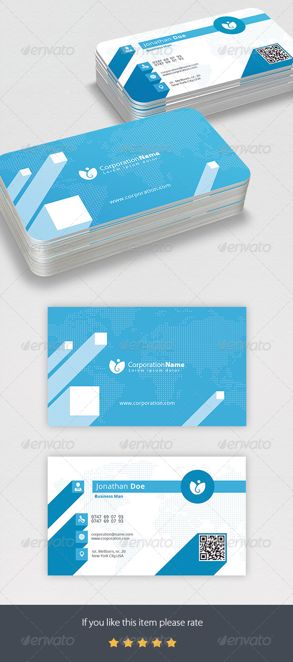 GraphicRiver Corporation Business Card 7128921