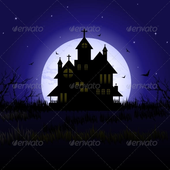 GraphicRiver Halloween Castle 7129349
