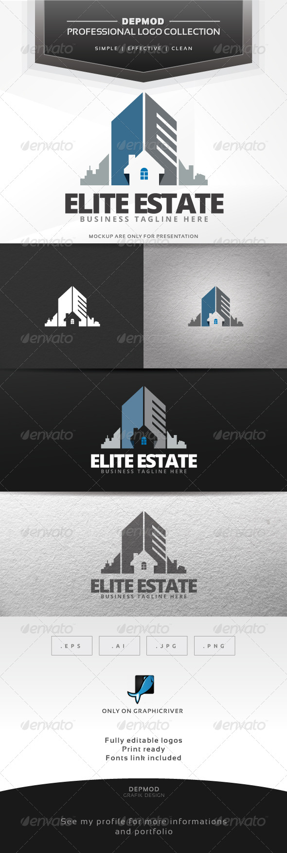 GraphicRiver Elite Estate Logo 7129416