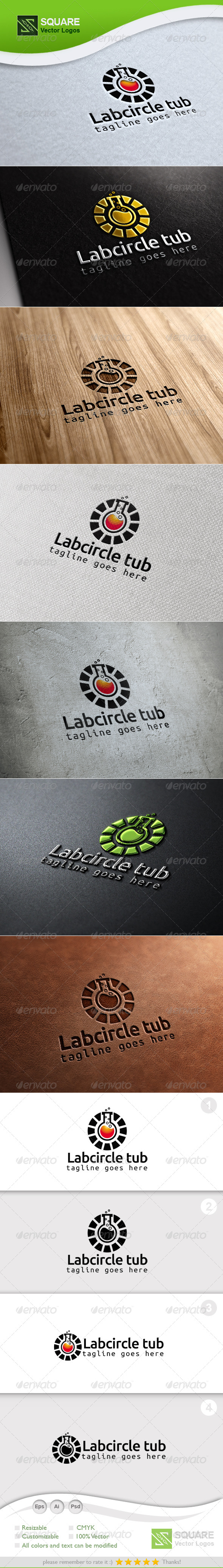 GraphicRiver Circle Test tube Vector Logo Template 7129436