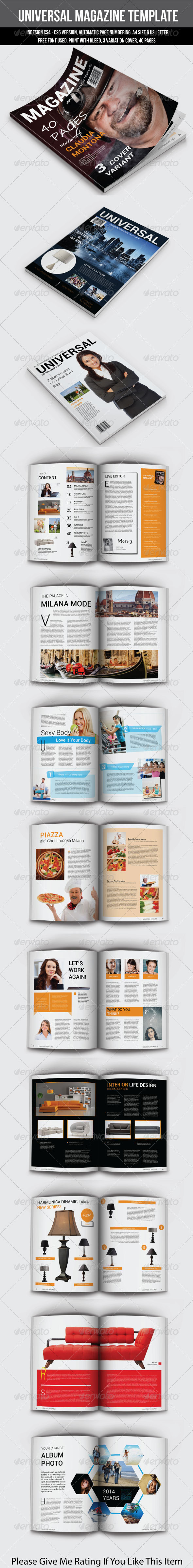 GraphicRiver Universal Magazine Template 7129673