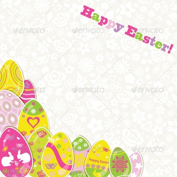 GraphicRiver Easter Background with Paper Eggs 7129734