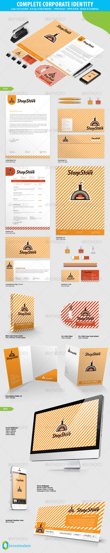 GraphicRiver Stone Stove Pizza Corporate Identity 7130345
