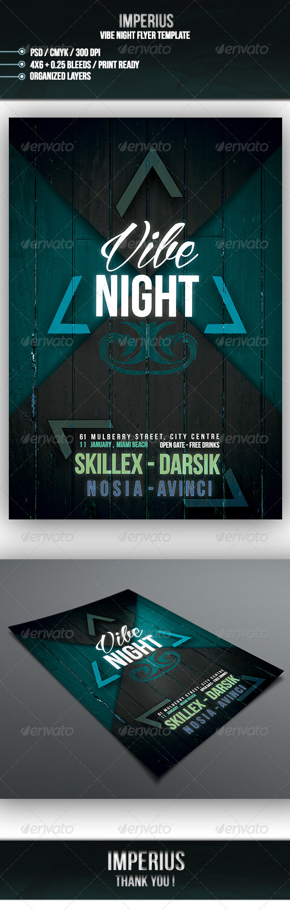 GraphicRiver Vibe Night Flyer 7132512