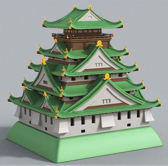 3DOcean Cartoon Osaka Castle 7132662