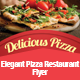 Elegant Pizza Restaurant Flyer Template