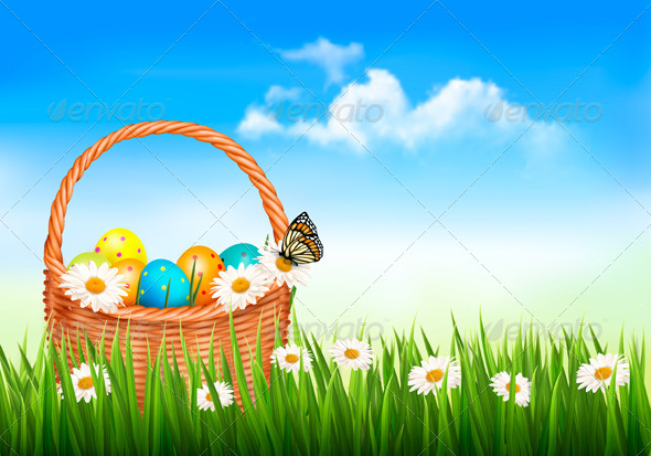 GraphicRiver Easter Background 7133199