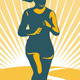 Female Marathon Runner Circle - GraphicRiver Item for Sale