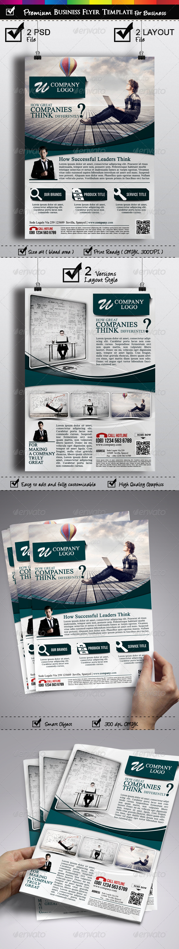 GraphicRiver Premium Business Flyer Template 2 Versions 7133320