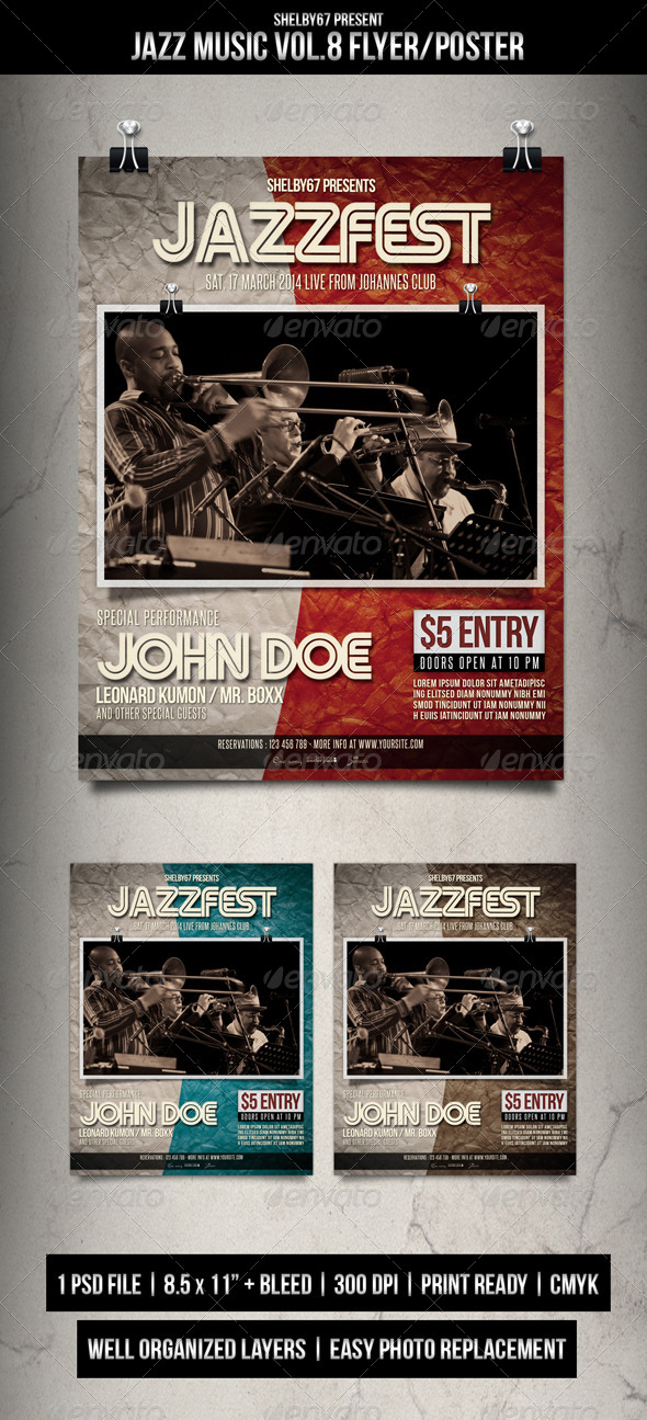 GraphicRiver Jazz Music Flyer Poster Vol.8 7136054