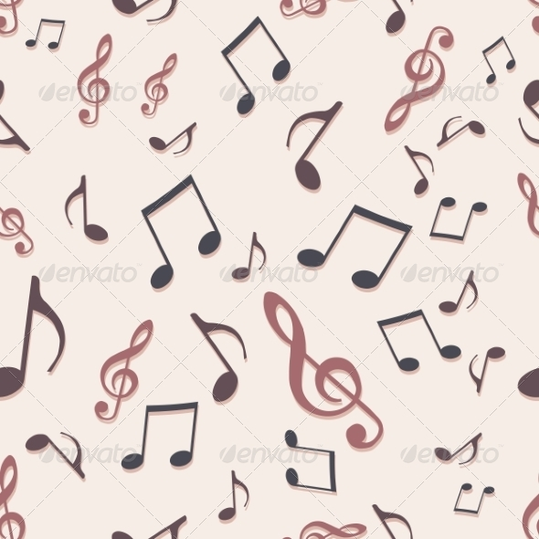 GraphicRiver Vector Seamless Pattern of Music Notes 7137152
