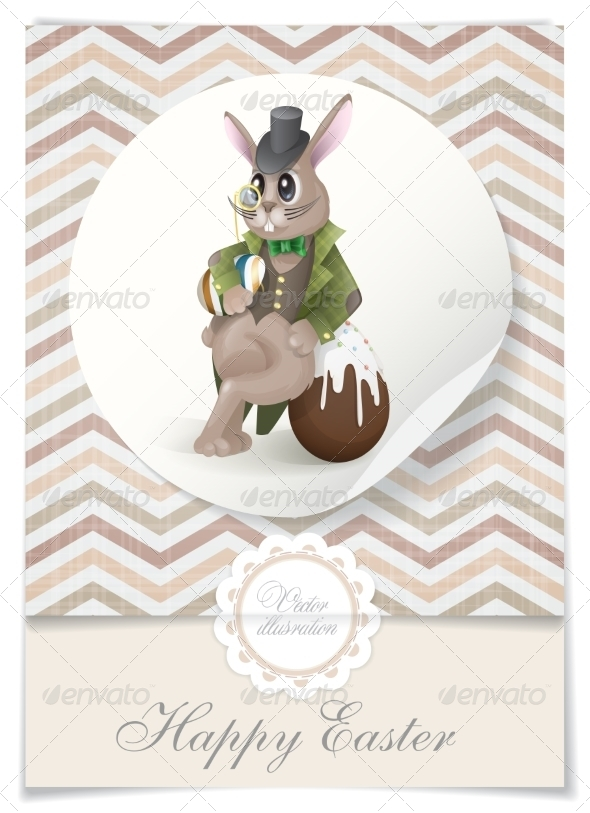 GraphicRiver Easter Bunny With Chocolate Egg 7138246