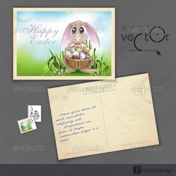 GraphicRiver Happy Easter Background 7138365