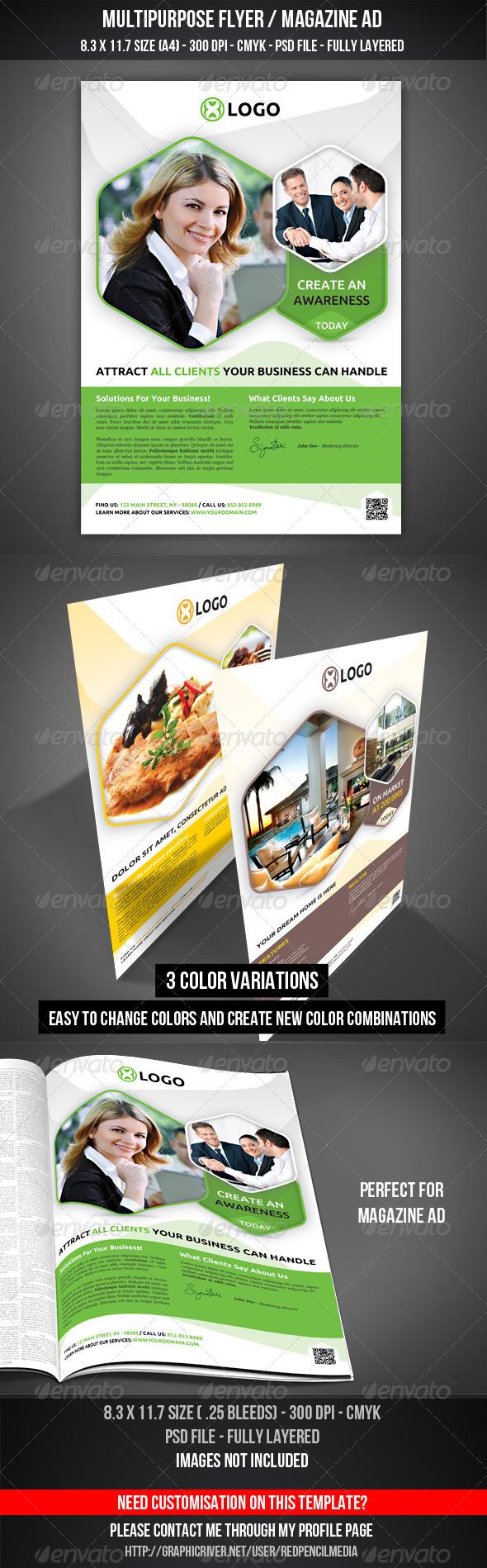 GraphicRiver Multipurpose Flyer Magazine AD 7138484