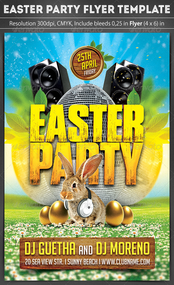GraphicRiver Easter Party Flyer 7138492