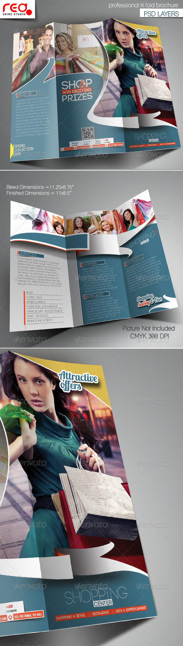 GraphicRiver Shopping Center Trifold Brochure Template 7139709