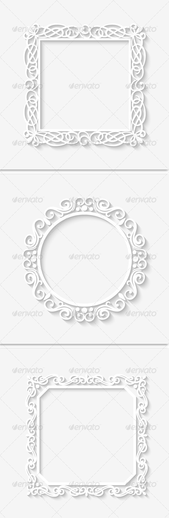 GraphicRiver Vector Vintage White Border Frame 7140312
