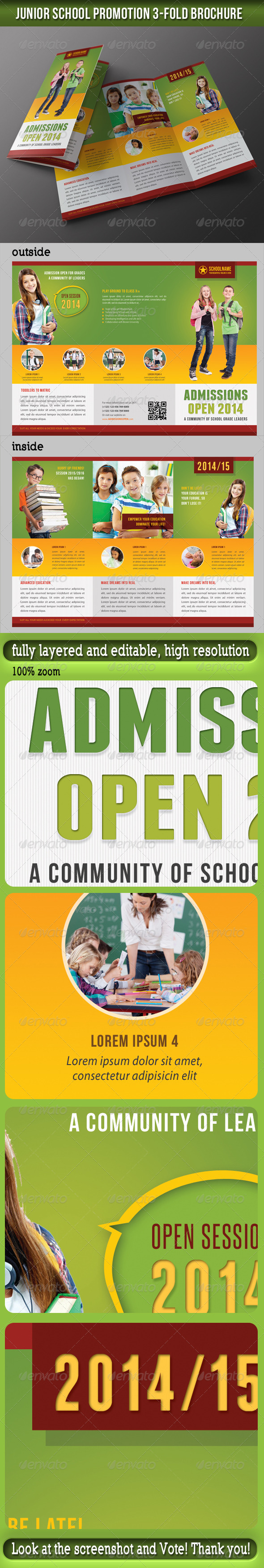 GraphicRiver Junior School Promotion 3-Fold Brochure 03 7140358