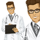 Hipster Doctor Man with Clipboard - GraphicRiver Item for Sale