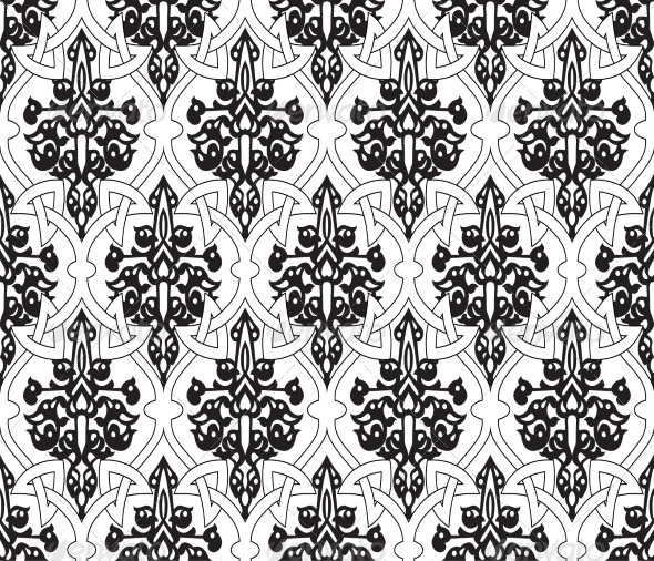 GraphicRiver Seamless in Mosaic Ethnic Style 7140731