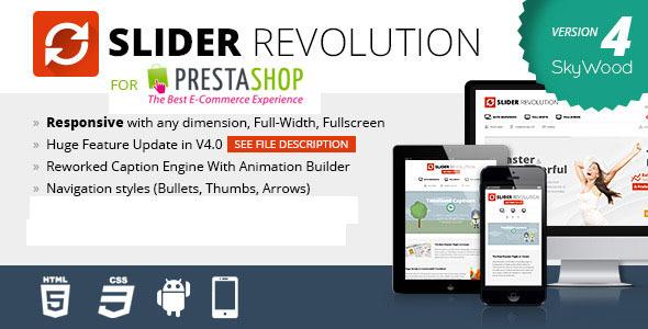 CodeCanyon Slider Revolution Responsive Prestashop Module 7140939