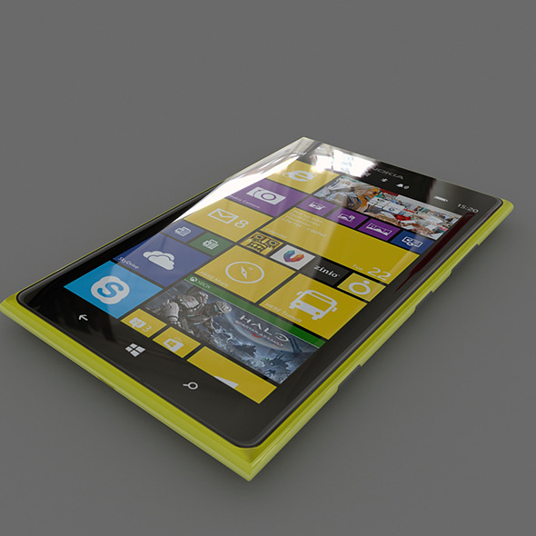 3DOcean Nokia Lumia 1520 Yellow 7141034