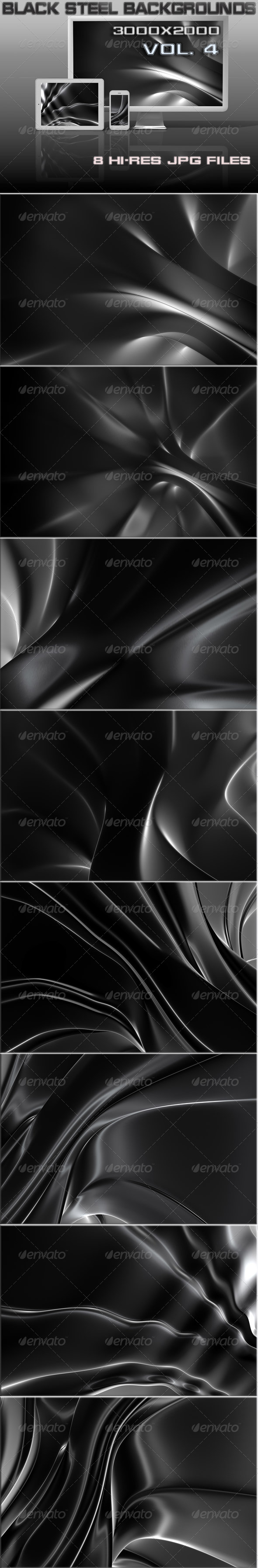 GraphicRiver Black Steel 3D Background 7141320