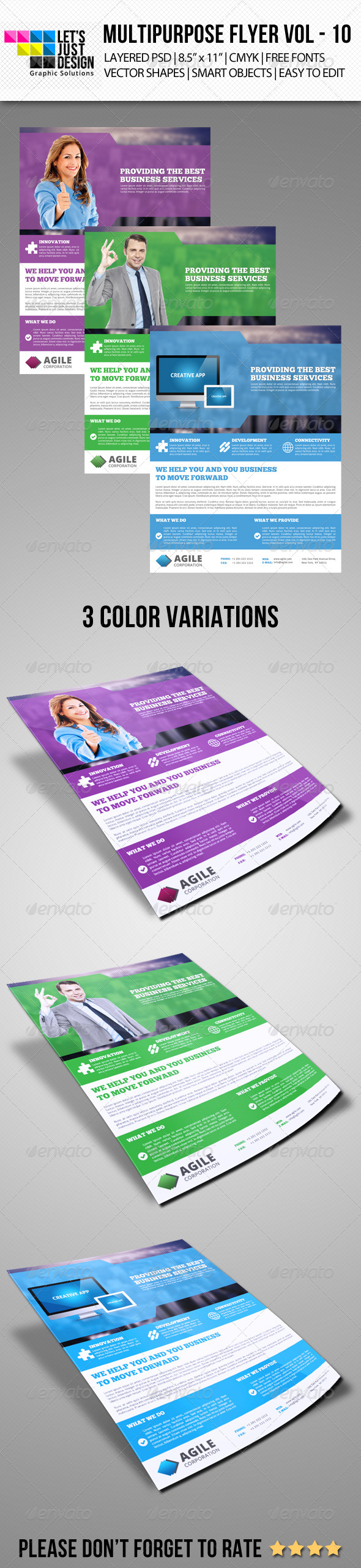 GraphicRiver Multipurpose Flyer Template Vol 10 7141325
