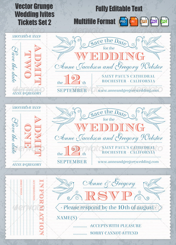 GraphicRiver Wedding Invites Set 2 7141485