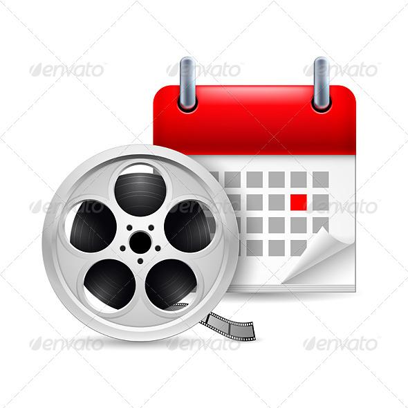 GraphicRiver Film Reel and Calendar 7141677