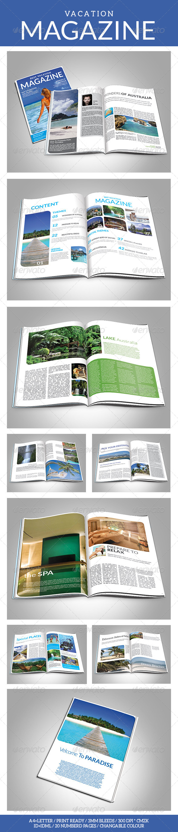 GraphicRiver Vacation Magazine Template 7123402