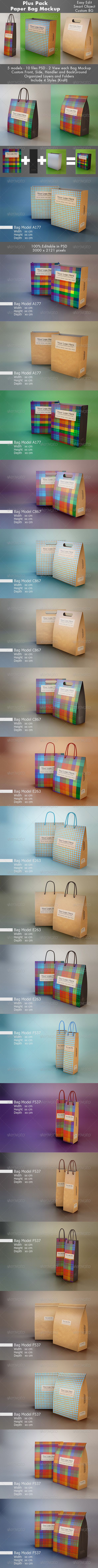 GraphicRiver Plus Pack Bag Mockup 7142611
