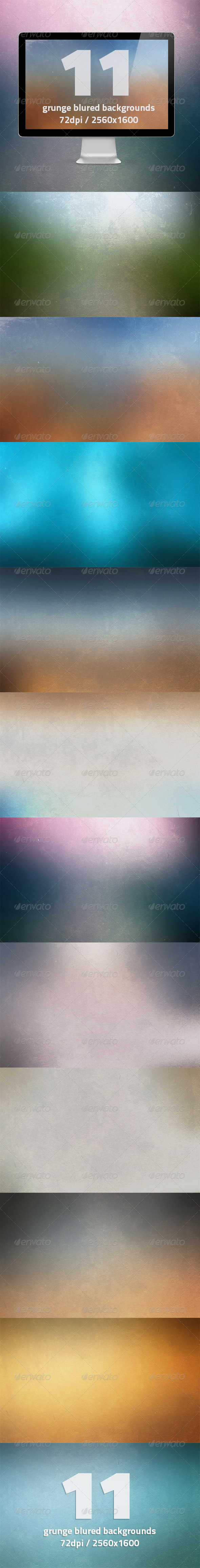 GraphicRiver 11 HQ Grunge Blurred Backgrounds 7020206