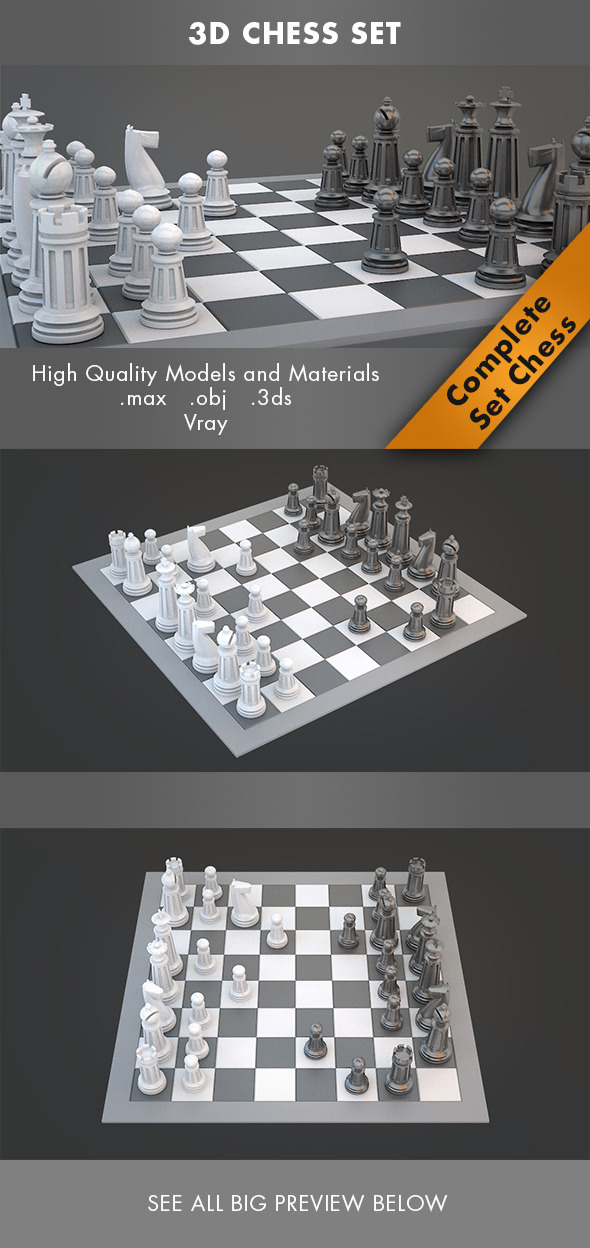 3DOcean 3D Chess Set 7142791