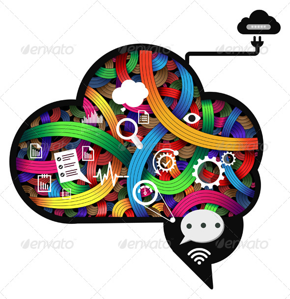 GraphicRiver Brain Working Abstract Illustration 7142823
