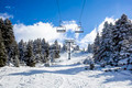 Snowy Mountain And  Ski Lift - PhotoDune Item for Sale