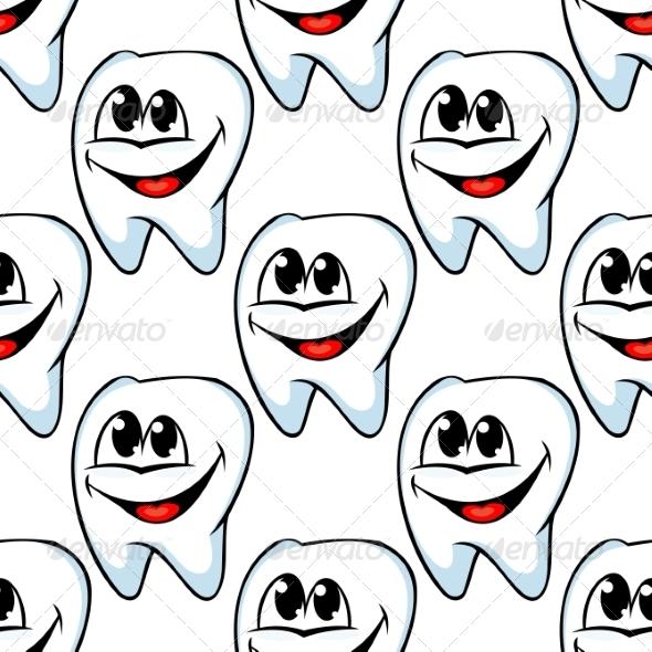 GraphicRiver Repeat Pattern of Happy Healthy Teeth 7143203