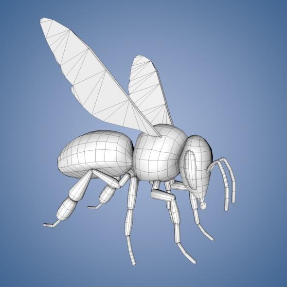 3DOcean Bee Base Mesh 7143324