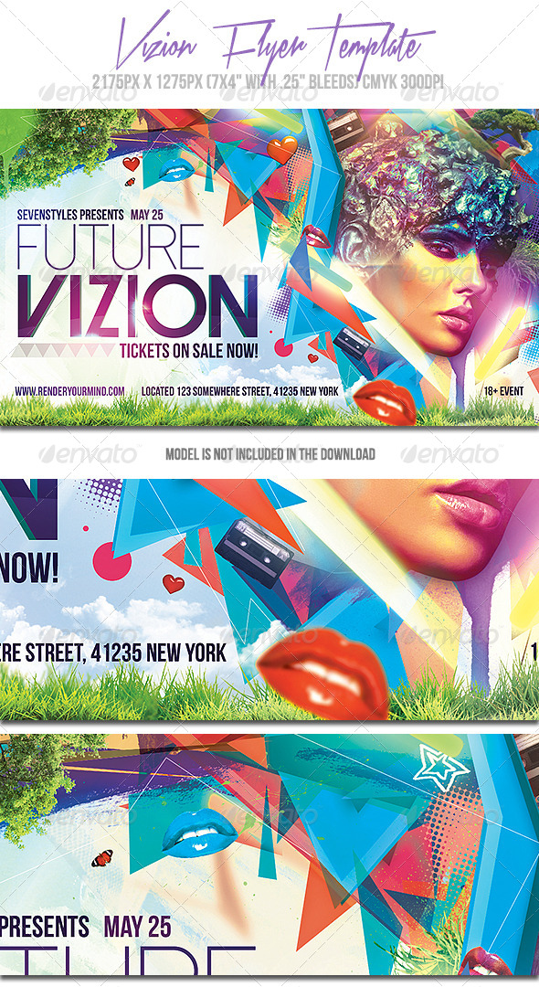 GraphicRiver Vizion Flyer Template 7143474