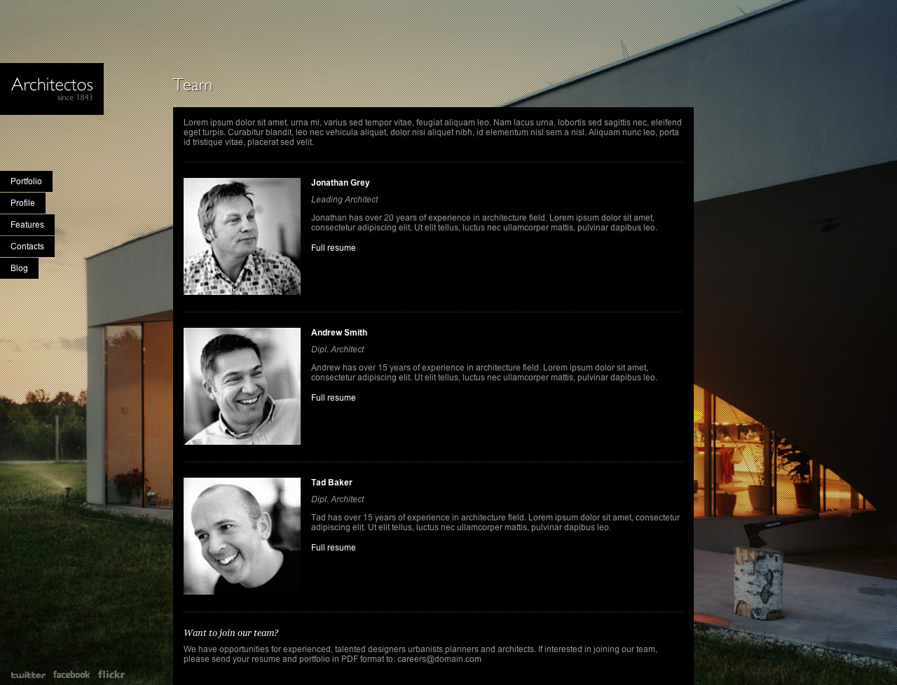 Architectos - Blog & Portfolio WordPress Theme