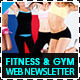 Fitness, Gym & Personal Trainer Web Newsletter - GraphicRiver Item for Sale