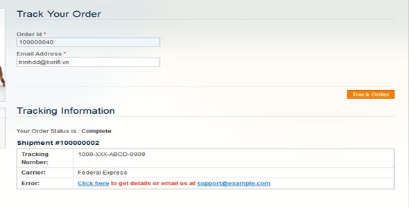 CodeCanyon Track order 7144328