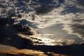 Dark clouds and sunrise at evening sky - PhotoDune Item for Sale
