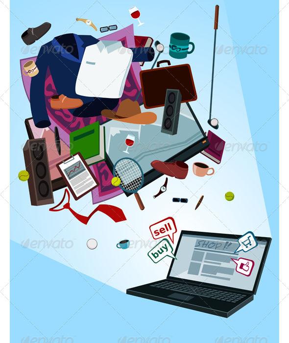 GraphicRiver Online Shop for Men 7147018