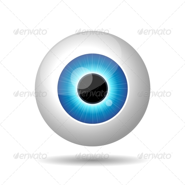 GraphicRiver Blue Eye on White Background 7147703