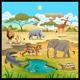 African Animals in the Nature - GraphicRiver Item for Sale
